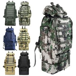 100l outdoor camping bag military backpack tactical
