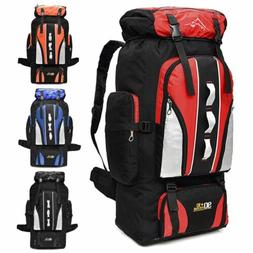 100L Outdoor Hiking Camping Backpack Bag Travel Mountaineeri