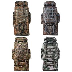 100L Outdoor Molle Military Tactical Bag Camping Hiking Trek