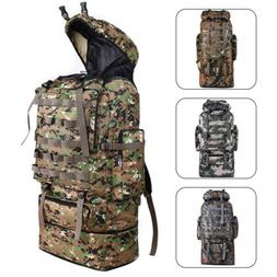 100L Outdoor Waterproof Tactical Camping Backpack Hiking Cam