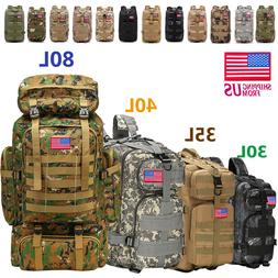 30L/35L/40L/80L Outdoor Military Tactical Rucksack Backpacks