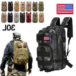 30l military tactical backpack daypack bag