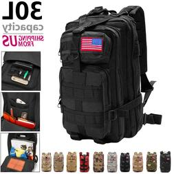 30L Outdoor Camping Bag Military Backpack Tactical Hiking Tr