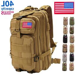 40L Military Tactical Shoulder Backpack Rucksack Hiking Camp