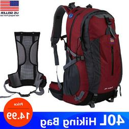 40L Waterproof Outdoor Sport Hiking Camping Travel Backpack
