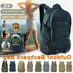 45L Outdoor Military Tactical Backpack Camping Shoulder Pack
