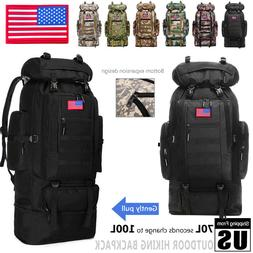 70L-100L Extra Large Hiking Military Tactical Backpack Rucks