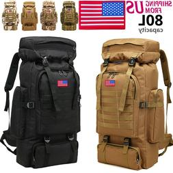 80L Large Military Shoulders Backpack Waterproof Tactical Cl