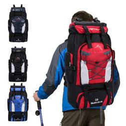 80L Outdoor Hiking Backpack Waterproof Travel Camping Daypac