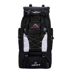 80L Waterproof Outdoor Sport Hiking Camping Travel Backpack