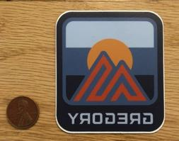 GREGORY Backpacking MOUNTAIN Sun BLUE Logo STICKER Decal HIK