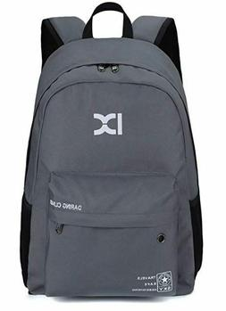 Grey Kid Adult Backpack Small Lightweight Day Pack Tablet Tr