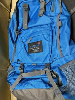 Hiking Backpack Mountaintop Traveling 40L Outdoor Sky Blue C
