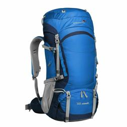 MOUNTAINTOP Hiking Backpack with Rain Cover -  55L - Skyblue