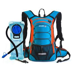 MIRACOL Hiking Hydration Backpack Lightweight Pack with 2L B