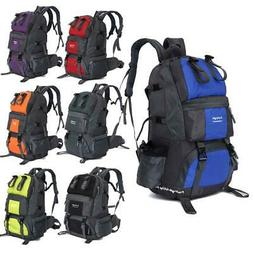 Hot Large 50L Backpack Hiking Bag Camping Travel Day Pack Cl