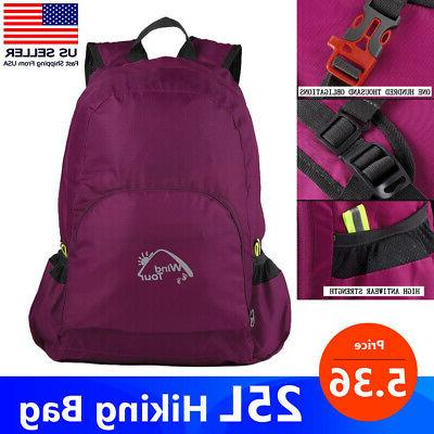 25l hiking backpack camping rucksack waterproof shoulder
