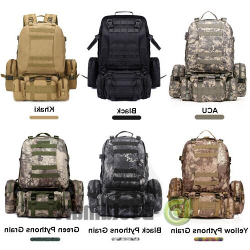 Large Capacity 55L Molle Outdoor Military Tactical Bag Campi