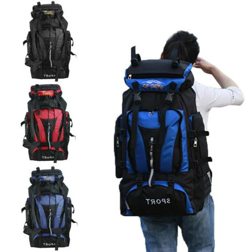 70l outdoor travel hiking camping backpack nylon