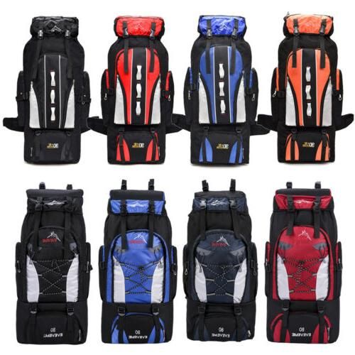 80l 100l outdoor hiking backpack camping rucksack