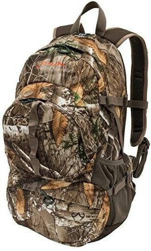 durable dark timber day pack large front