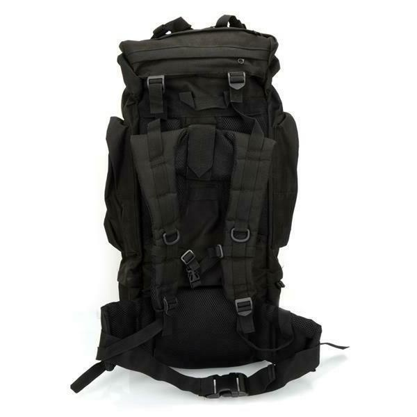 Military Backpack Large Outdoor Black 65L