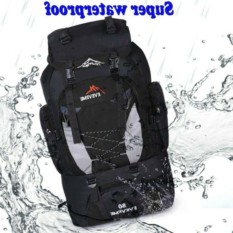 80L Outdoor Travel Hiking Camping Backpack-Waterproof,Lightw