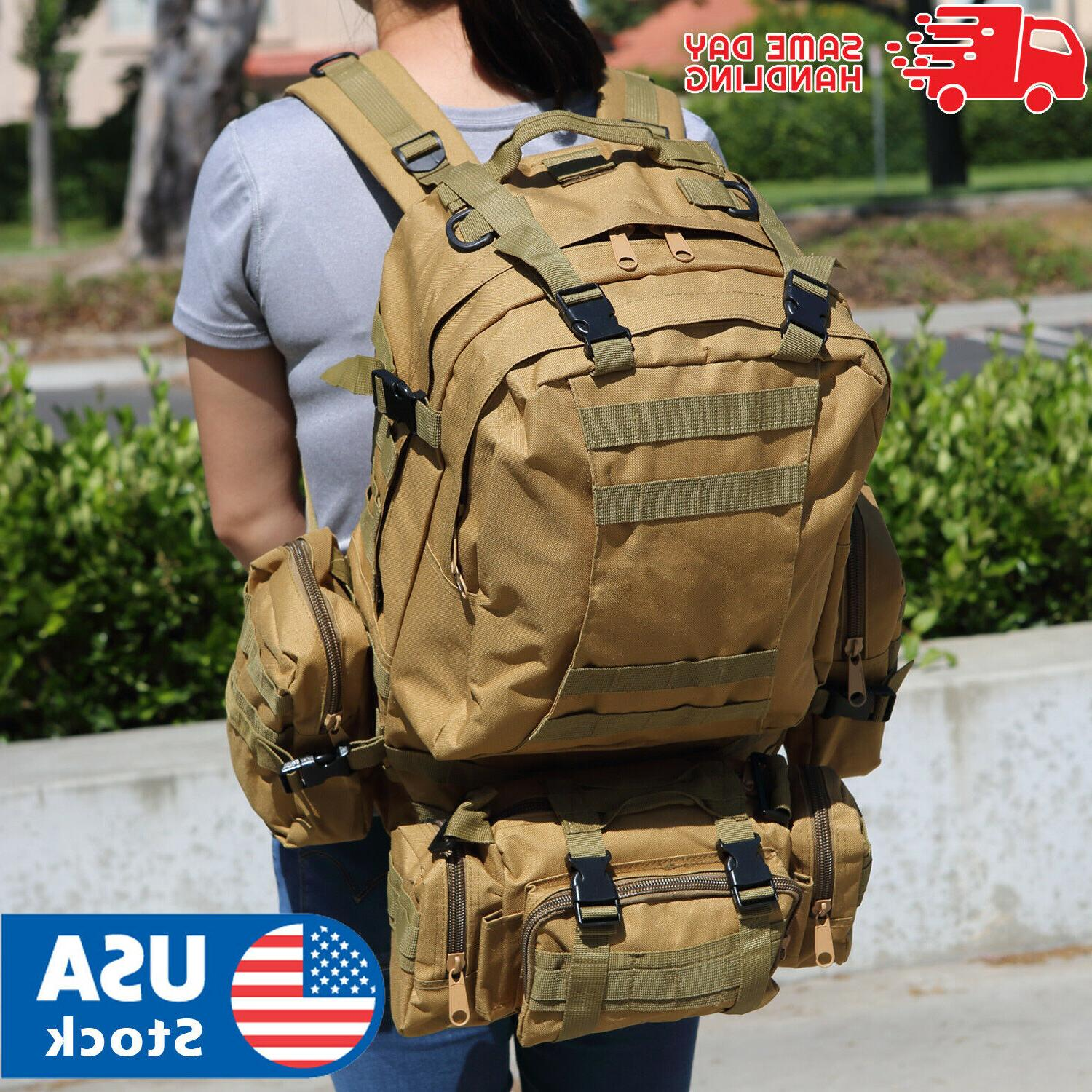us 55l molle outdoor military tactical bag