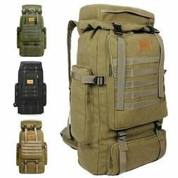 Men Women 80L Large Outdoor Sports Backpack Travel Hiking Ca
