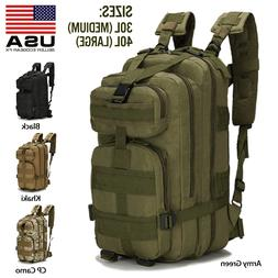 Military Tactical Backpack Daypack Bug Out Bag for Hiking Ca