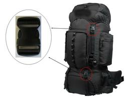 """NEW 1"""" Black Clip Replacement KELTY COYOTE 65 Hike Backpack"""