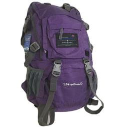 New MOUNTAINTOP 40 Liter Hiking Backpack Purple with Rain Co