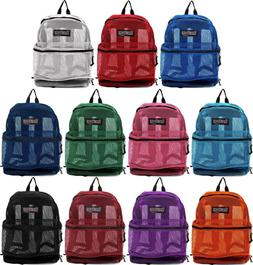 """NEW """"Transport"""" See Through Mesh Backpack/Book Bag/School /H"""