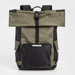 Bioworld Outdoor Camping Hiking Roll-Top Backpack Army Green
