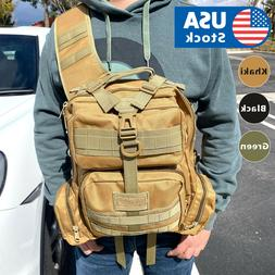 Outdoor Shoulder Military Tactical Backpack Travel Camping H