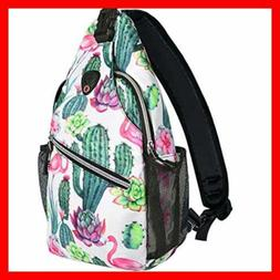 MOSISO Sling Backpack Travel Hiking Daypack Pattern Rope Cro