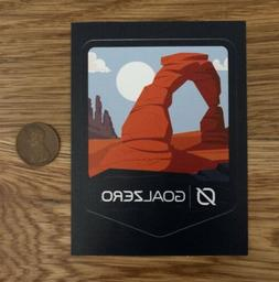 GOAL Zero SOLAR Backpacking MOAB Arches STICKER Decal HIKE F