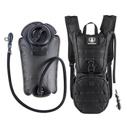 Tactical Hydration Pack Water Backpack with 3L Bladder, Barb