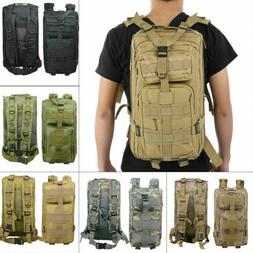 US,Tactical Backpack Army Assault Day Pack Hiking Trekking C